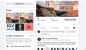 horizon social media
